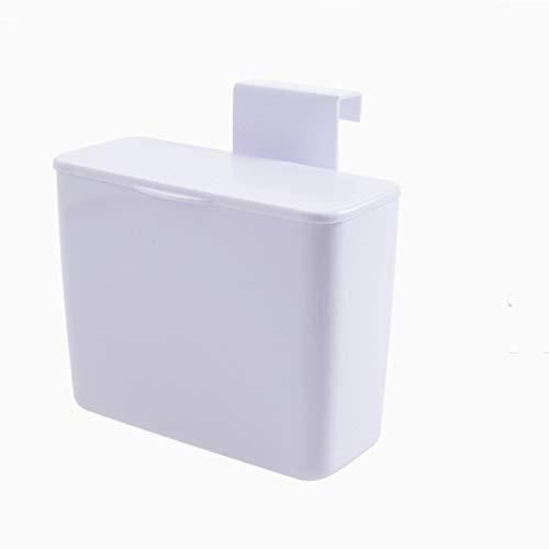 Neaer - Pattumiera da cucina a parete, per appendere la spazzatura, da appendere alla porta, per la spazzatura, per auto, accessori per la casa (capacità: 4 l, colore: bianco)