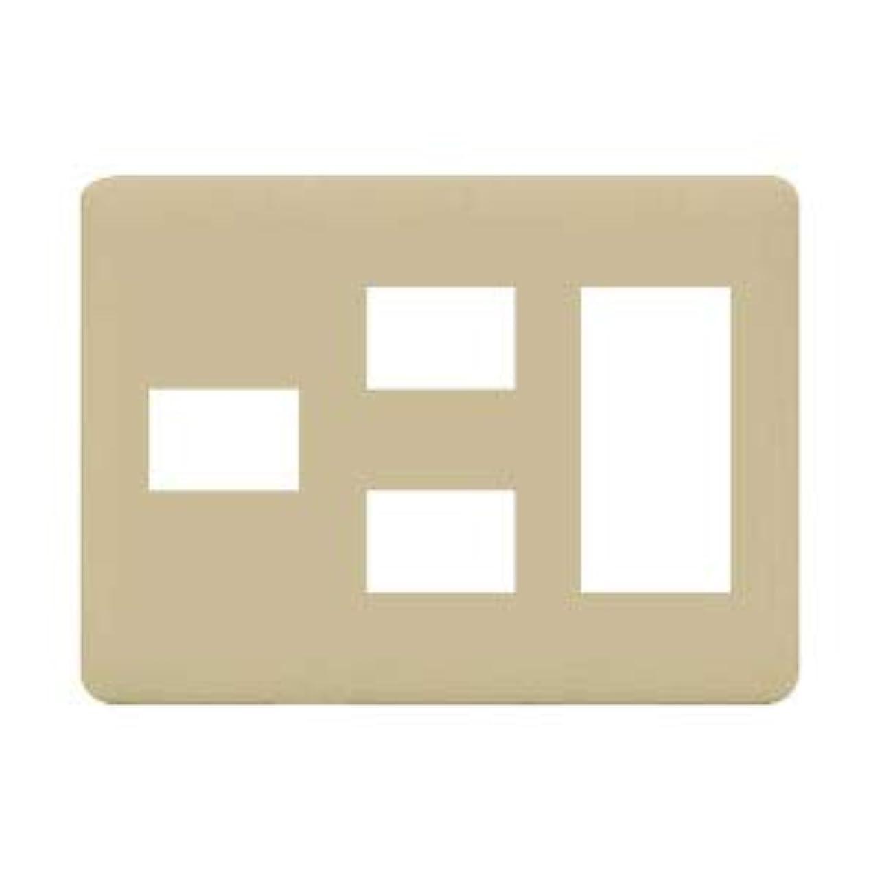 参加者バルセロナ含める神保電器 J?WIDEシリーズ WJDシリーズ 2ピースコンセントプレート 3連用 6コ用(1コ+2コ+3コ) ライトベージュ WJD-123-L ※受注生産品