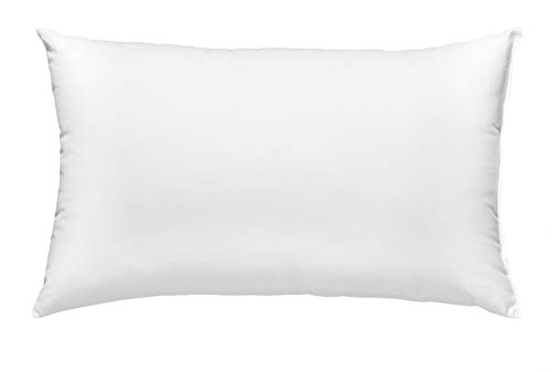 sleepling 196516 Feder- und Daunenkissen Kopfkissen, Bezug aus 100% Baumwolle, 40 x 60 cm, weiß