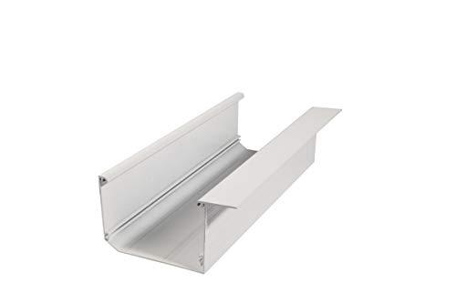 Regenrinne Dachrinne Terrasse Carport Aluminium Farbe: weiß | Länge: 4100mm