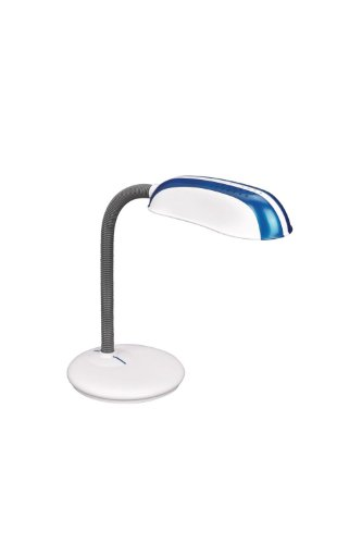 Massive 673199110 E27 14 W Fluorescent Bleu, Gris, Blanc Lampe de bureau – lampe de bureau (Bleu, Gris, Blanc, synthétique, bureau, étude, Expresivo, iP20, II)