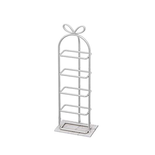 LYLY Zapatero de hierro creativo nórdico, estante de zapatos multicapa para zapatos, base de mármol, para dormitorio, armario, entrada, dormitorio, zapatero (color: blanco, tamaño: 5 niveles)
