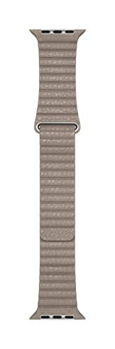 Apple Watch (44mm) Lederarmband mit Schlaufe, Stein - Large
