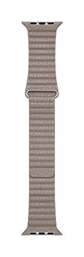 Apple Watch (44mm) Lederarmband mit Schlaufe, Stein - Large