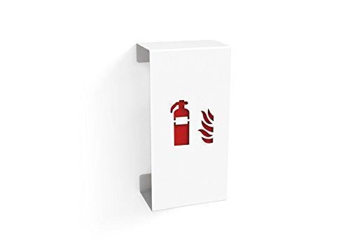 Konstantin Slawinski Fire Small/Feuerlöscherhalterung für Feuerlöscher bis max. 60cm in weiß / 30x20,2x65cm