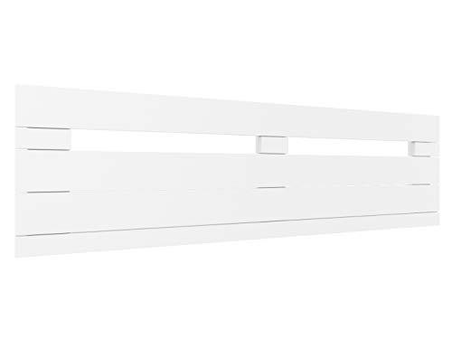 LA WEB DEL COLCHON - Cabecero de Madera Rústico Provenza para Cama de 135 (145 x 44 cms.) Blanco nórdico | Cabeceros Madera | Dormitorio Matrimonio | Cabezal Cama |Estilo nórdico