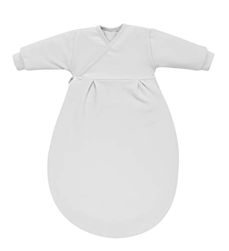 Alvi Baby Mäxchen Innensack | Ganzjahres-Kinder-Schlafsack, Größe:104, Design:silbergrau