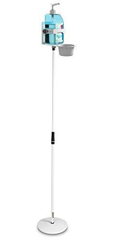Gravity GMS23DIS01W Höhenverstellbarer Desinfektionsmittelständer mit Universal Halter Weiß