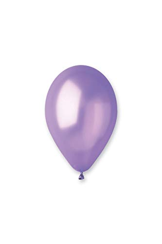 Gemar - Ba19600/lavande - Sachet de 100 Ballons Métallisés Lavande Diam 30 cm Cir 94 Cm63
