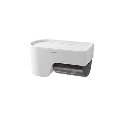 Xiaokeai Caja de dispensadores de Tejido de Pared con función de Almacenamiento, se Puede Utilizar para la Barra de Toallas de Papel en el hogar en el baño y la Cocina