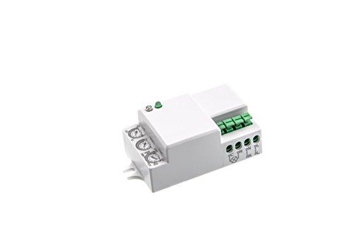 HUBER Motion 50 HFMiniRadar Bewegungsmelder für Innen 360° - Unterputz Bewegungsmelder LED geeignet, Bewegungsmelder Einbau, Motion Sensor, 3-Draht-Technik