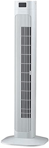 wangYUEQ Ventilador de torre con control remoto y función de parrilla deslizante, ventilador de refrigeración, color negro (color: blanco)