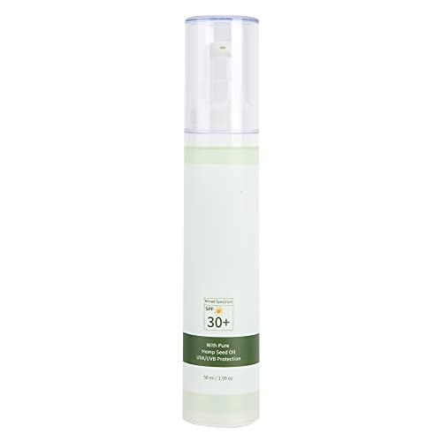 Crema de protección solar refrescante con aislamiento UV a prueba de agua, loción facial, protector solar con bloqueador solar hidratante de amplio espectro Spf30 + 50ml