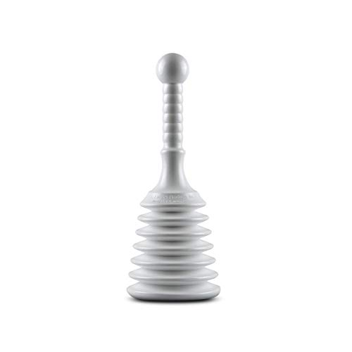 Master Plunger MPS4-4 Sink & Drain Plunger for Kitchen Sinks, Bathroom Sinks, Showers, and Bathtubs. Small and Strong Design with Large Bellows Commercial & Residential Use, White