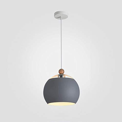 XDWM kroonluchter van smeedijzer, eenvoudig, tafellamp, eettafel, kantoor, thuis, café, tafel, rond, diameter 30 cm, 30 cm grijs.