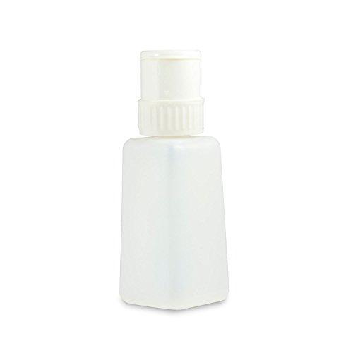 N&BF Dispenser pompfles, 250 ml, wit, pompdispenser voor het doseren van nagellak, cleaner en meer, voor nagelstudio en thuis, praktische cosmetica-pompfles