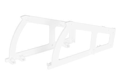 Gedotec Armarios reclinables para zapatos Zapatero 1 compartimento | Bisagra para muebles giratoria de plástico blanco - mecanismo de cierre de cajones de puerta - 1 pieza