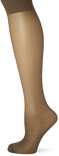 Pretty Polly Damen Medium Support Knee Highs 2pp Kniestrümpfe, 15, Schwarz (Blk Barely Black), One Size (Herstellergröße: OS) (3er Pack)