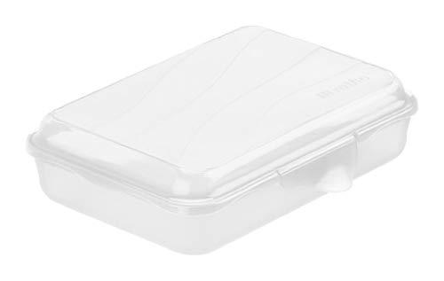Rotho Fun flache Vesperdose 0.45l mit Klickverschluss, Kunststoff (PP) BPA-frei, transparent, 0,45l (16,0 x 11,0 x 4,0 cm)