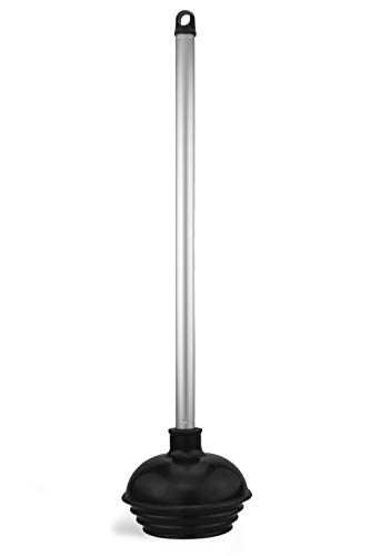 Neiko Toilet Plunger with Patented All-Angle Design - Heavy Duty - Aluminum Handle