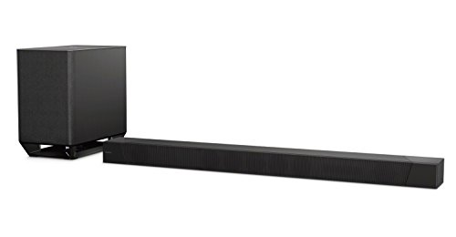 Sony HT-ST5000 | Soundbar Dolby Atmos 7.1.2 canali con Subwoofer wireless, Hi-Res Audio, Chromecast Built-in, Spotify Connect, Multi-room, USB, NFC, Bluetooth, Wi-Fi, Nero