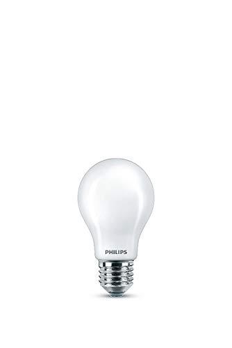 Philips LED Classic Bombilla, 60 W, Estándar A60 E27, Mate, Luz Blanca Cálida, No Regulable