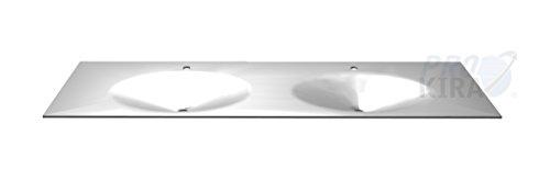 PELIPAL Solitaire 6010 Krion-Waschtisch, Weiß matt/KDWT 54-1830 / B: 183 cm