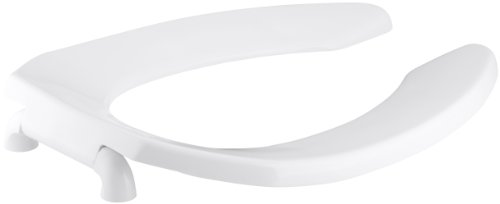 KOHLER K-4670-C-0 Lustra Elongated Toilet Seat with Check Hinge, White