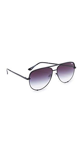 Quay Australia HIGH KEY Men's and Women's Sunglasses Classic Oversized Aviator - Black/Fade