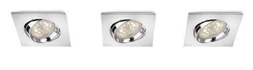 Philips Galileo Spot LED encastrable Chromé 3 x 4 W