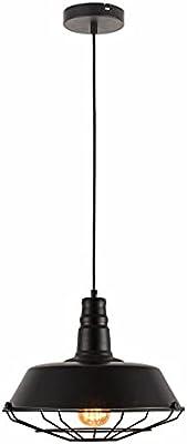 Homemania HOMPT_0023 Lampada a Sospensione Klara, Lampadario, da Soffitto, Nero in Metallo, 36 x 36 x 148 cm, 1 x E27, Max 40W