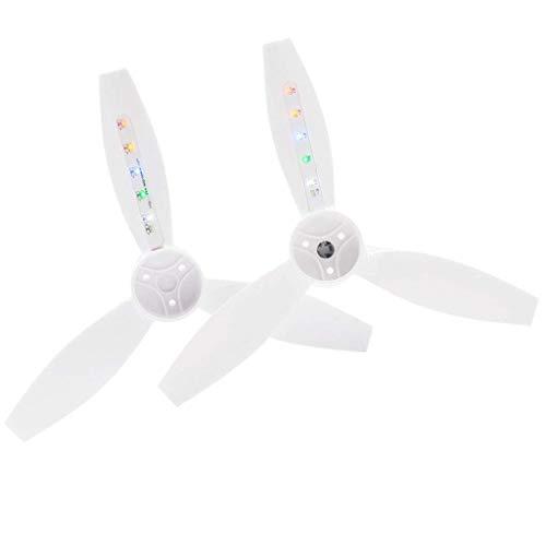 zmigrapddn Parti di Ricambio RC Eliche per droni con luci a LED, eliche 5332s Lampeggianti notturne per Accessori Parrot Bebop 2, Confezione da 2, Accessori di Ricambio RC