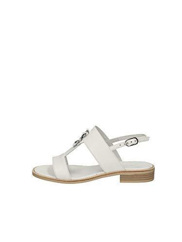 Sandalo da Donna NeroGiardini in Pelle Bianco E012492D. Scarpa dal Design Raffinato. Collezione Primavera Estate 2020. EU 36