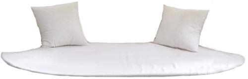 Dekovita Liegen-Auflage für Airlounge Sitz-Bank Garten-Liege Sonnenliege Sonneninsel Polster mit 2 Kissen