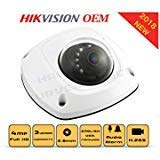 4MP PoE Wireless Security IP Camera - Mini Dome,Indoor and Outdoor,Wide Angle 2.8mm Lens,Built in WiFi,Microphone Audio Alarm I/O Compatible with Hikvision DS-2CD2542FWD-IWS DS-2CD2543G0-IWS