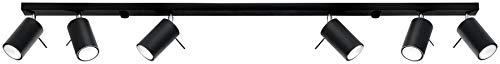 SOLLUX RING SL.0334 Loft - Lámpara de techo redonda (4 focos, acero, GU-10), color negro