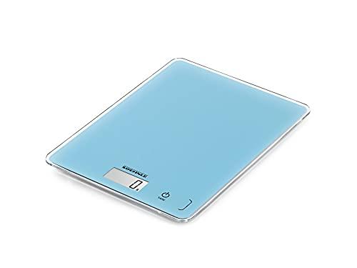 Soehnle Page Compact 300 Pale Blue, digitale Küchenwaage, Gewicht bis zu 5 kg (1-g-genau), Haushaltswaage mit patentierter Sensor-Touch-Funktion, elektronische Waage inkl. Batterien