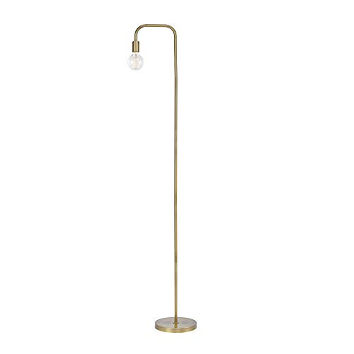 Globe Electric Holden 70quot Floor Lamp Matte Brass inLine On/Off Foot Switch 67068