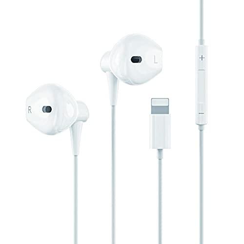 Écouteurs/Écouteur Intra Auriculaires Compatible avec iPhone, Casque Filaire avec Micro et Contrôle du Volume Compatible avec iPhone 12/12Pro/SE/11/11Pro Max/XS Max/X/XR/8/8PLUS/7/7PLUS