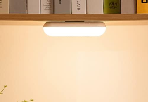 Longsheng Luz LED debajo del gabinete, mini luz de noche táctil lámpara ahorro de energía, lámpara de noche recargable colgante 14.9* 4.4* 3cm (blanco)