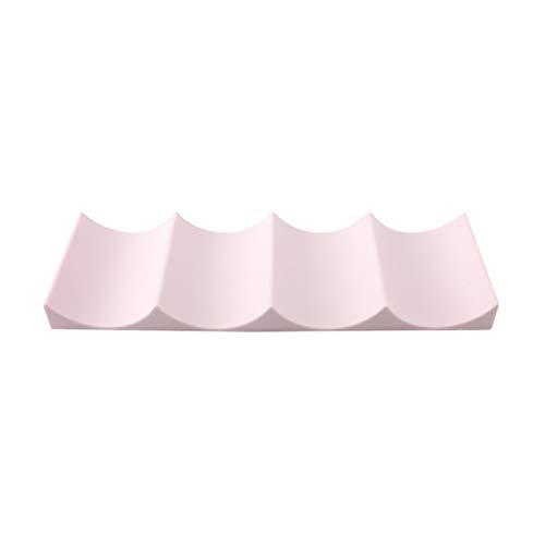 RWEAONT Forma Organizador Puede Frigorífico Plataforma Wave Ahorro de Espacio Anti Slip Moderna Estante del Vino del Estilo Europeo encimeras Inicio Champagne Jar (Color : Light Pink)