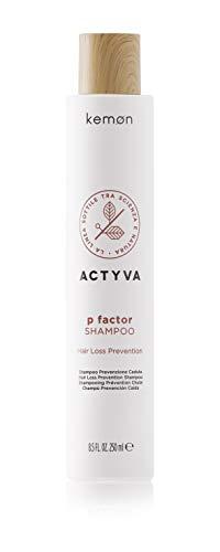 Kemon Actyva P Factor Shampoo - Haarausfall-Shampoo für Haarwachstum, Vital-Shampoo für mehr Haarfülle und eine gesunde Kopfhaut - 250 ml