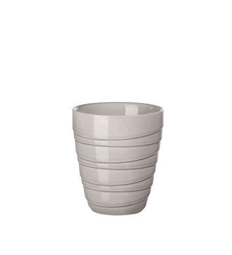 ASA - Thermobecher - Twisted - grau - Ø8,4 x H9,5 cm - 0,2 Liter - doppelwandig