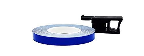 Bandes Wheel Stripes Réfractifs pour les Jantes des Motos, Bleu, 7 mm x 6 mt