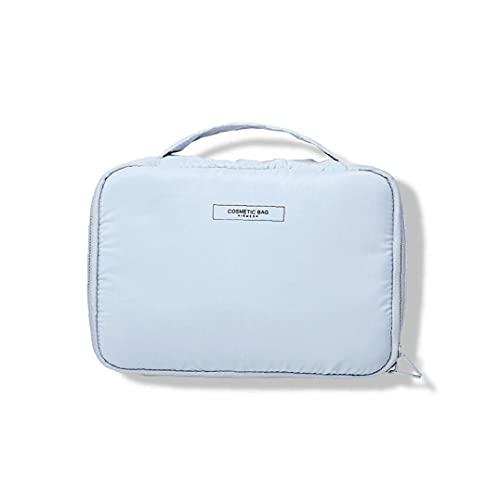 Sanfiyya 1 UNID Multifuncional Maquillaje Pincel Bag Portable Cosmetic Case Bolso de Maquillaje Gran Bolso Tenedor de Cepillo de Viaje Profesional Organizador cosmético Bolso para Mujer y niña (Azul)