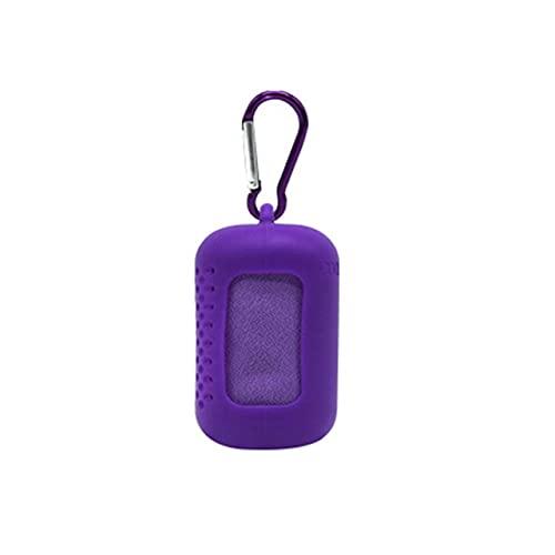 YASEking Toalla de baño portátil de microfibra de secado rápido para gimnasio, ciclismo, playa, deportes, refrescante, para ducha, (color morado pequeño)