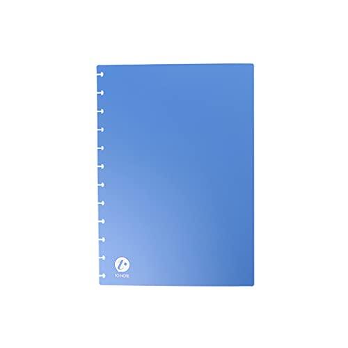 CAREMiLLE Mushroom Hole Notebook Cover PU Cover A4 A5 A6 A7 B5 Tamaño Notebook DIY Assembly Cubierta de Diario de Cuaderno de Hojas Sueltas, Llaves de Anillo de Carpeta, Azul, A5
