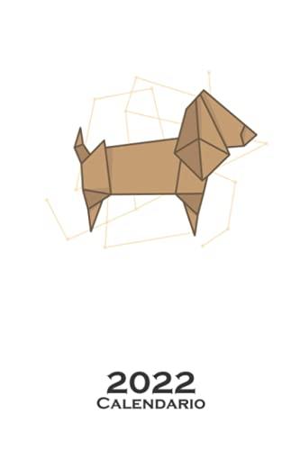 Perro de origami en forma de papel Calendario 2022: Calendario anual para Abanicos japoneses de papel plegado