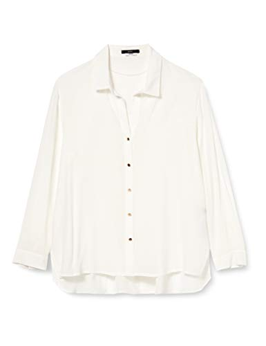 ESPRIT Collection 090EO1F316 Bluse Damen, Weiß (110/OFF WHITE), 36