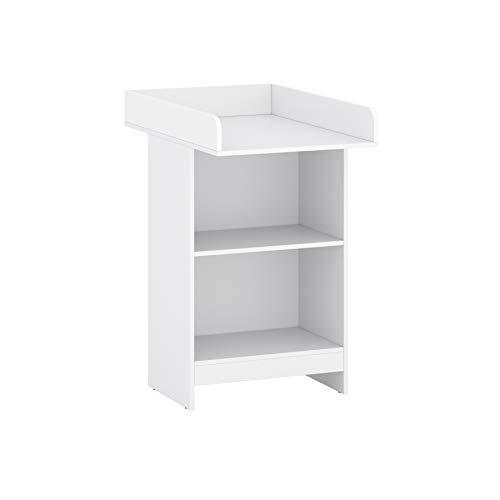 Table à langer Melisa pour bébé - Commode à langer - Blanc mat - 60,2 x 88 x 103,5 cm